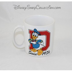 Donald DISNEYLAND PARIS ceramic Cup mug letter D since 1934 Disney