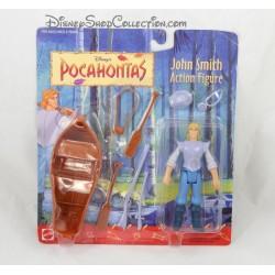 Figuras de acción vintage de canoa de John Smith DISNEY Pocahontas de MATTEL