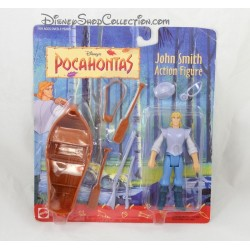 Figurine d'action John Smith DISNEY MATTEL Pocahontas canoë vintage