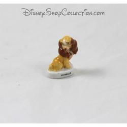 Fève chien Lady DISNEY La Belle et le clochard céramique 3 cm