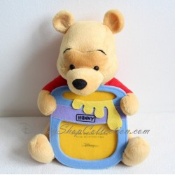 Peluche Winnie l'ourson DISNEY STORE cadre photo 23 cm