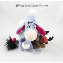 Plush donkey Eeyore DISNEY STORE reindeer Christmas 21 cm