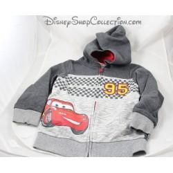 Chaqueta coche Flash McQueen C & A Disney Cars chaqueta cremallera suéter gris 6 años