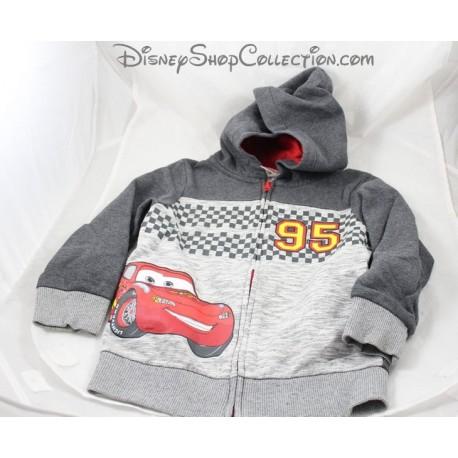 Veste voiture Flash McQueen C&A Disney Cars gilet sweat zip gris 6 ans
