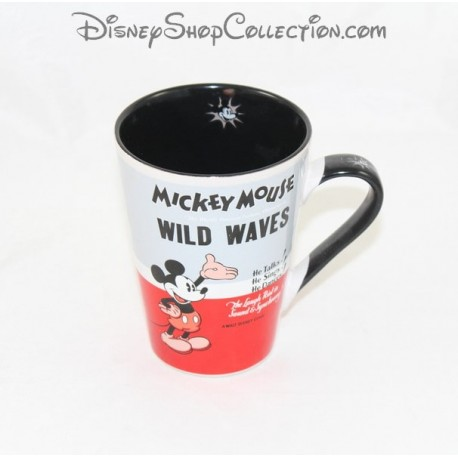 mug mickey disney mickey mouse wild waves gris rouge tasse c ramiqu. Black Bedroom Furniture Sets. Home Design Ideas