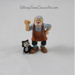 Figurine Gepetto BULLYLAND avec Figaro Pinocchio 7 cm
