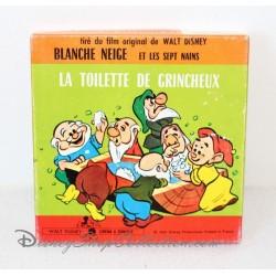 Film 8 mm Blanche Neige et les sept nains La toilette de Grincheux vintage