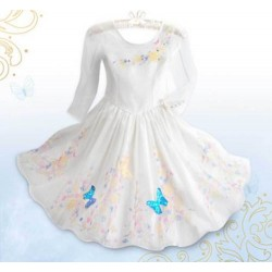 Deluxe costume DISNEY STORE Cinderella costume Film Cinderella dress wedding 11 / 12 years