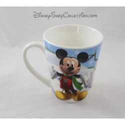 Mug Christmas Mickey Minnie DISNEY Donald snowman snow Pluto
