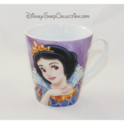 Mug Blanche Neige DISNEY princesse tasse mauve et blanc céramique