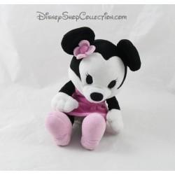 Peluche cutie Minnie DISNEY STORE robe rose fleur 19 cm