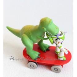 Figurine Toy Story DISNEY STORE Buzz l'éclair et Rex le dinosaure skateboard