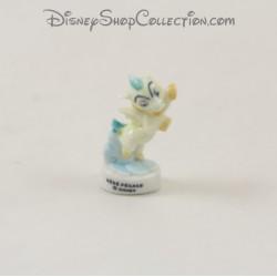Fève cheval bébé Pégase DISNEY Hercule blanc bleu 4 cm