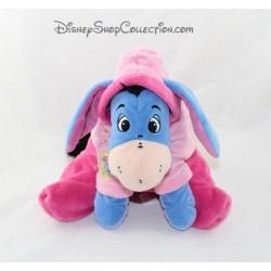 Peluche NICOTOY Eeyore pijama rosa burro con capucha Disney 23 cm sentado