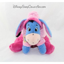 Plush NICOTOY Eeyore Pajamas pink hooded donkey Disney 23 cm sitting