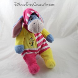 Plush donkey Eeyore DISNEY NICOTOY pink yellow combination hood 28 cm