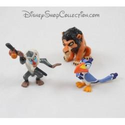 Lot de 3 figurines DISNEY Le Roi Lion Scar, Zazu et Rafiki pvc