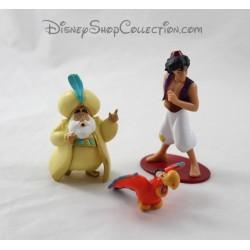 Lote de 3 DISNEY Aladdin, Sultan y Iago de estatuillas de