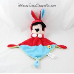 Doudou plana NICOTOY DISNEY Mickey disfrazado de nudos de 3 con capucha azul conejo rojo