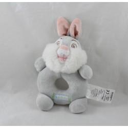 Traqueteo de Pan Pan DISNEY STORE Thumper tambor conejo gris rosa Bambi 13 cm