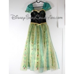 Anna DISNEY STORE the snow Queen costume dress green 9 / 10 years
