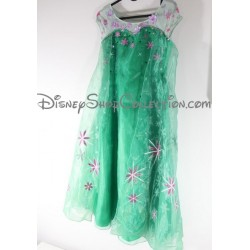 Elsa DISNEY STORE the snow Queen costume a frosted party dress green 9 / 10 years