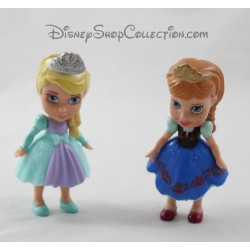Lot of 2 figurines DISNEY snow Elsa and children Anna 8 cm Queen