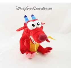 Peluche Mushu DISNEY dragon Mulan rouge Disney 17 cm