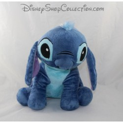 Peluche Stitch DISNEY CMD Lilo et Stitch assis bleu 27 cm