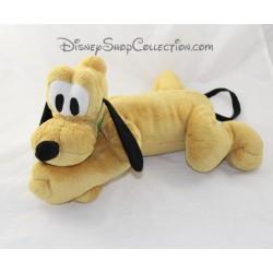 Peluche Pluto chien DISNEYLAND PARIS allongé collier vert Disney 40 cm