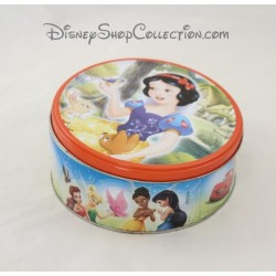 Boîte à biscuits ronde Blanche Neige DISNEY Princesses, Mickey, Cars fer 14 cm