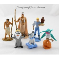 DISNEY Pocahontas John Smith and the Indian figurines lot