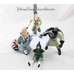 Ensemble de 4 figurines Mulan MCDONALD'S Mulan Shang Shan Yu Mcdo