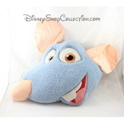 30 cm Blue rat Remy DISNEY STORE Ratatouille head cushion