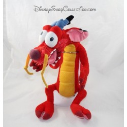Peluche dragon Mushu DISNEYLAND PARIS Mulan rouge Disney 40 cm