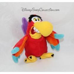 Peluche perroquet Iago DISNEYLAND PARIS Aladdin rouge jaune 17 cm