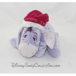Plush donkey Eeyore DISNEY I Love You purple 20 cm Cap