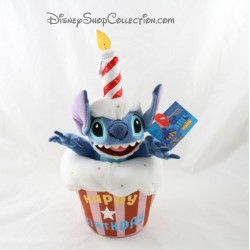Peluche Stitch DISNEYLAND PARIS Happy birthday gâteau d'anniversaire