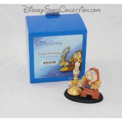 Figurine resin Big Ben and light DISNEY beauty and the beast Enchanting statuette Loyal Servants 9 cm