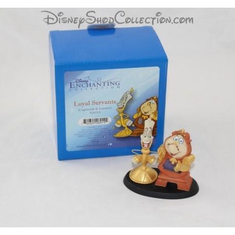 Figurine en résine Big Ben et Lumière DISNEY La Belle et la bête Enchanting statuette Loyal Servants 9 cm