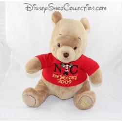 Peluche Winnie l'ourson DISNEY STORE Tee shirt NYC collection 2007 32 cm