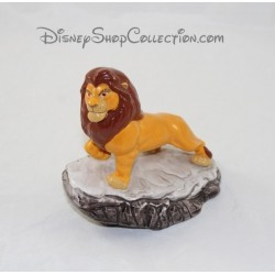 Adult Simba the King Lion Mufasa DISNEY ceramic figurine on his rock 14 cm