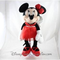 Peluche Minnie DISNEY STORE tenue rouge papillon ailes 2012 40 cm