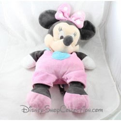Peluche Minnie souris DISNEY BABY range pyjama salopette rose 60 cm