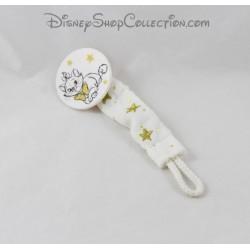 Attache tétine Marie chat DISNEY Les Aristochats blanc étoiles dorées 17 cm