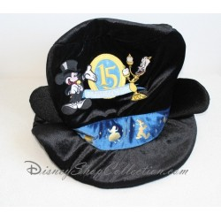 Chapeau Mickey lumière DISNEYLAND PARIS noir 15 magical years adulte 28 cm