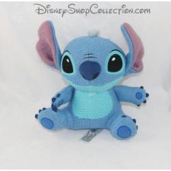 Peluche Stitch DISNEYLAND PARIS Lilo et Stitch laine effet tricot bleu Disney 18 cm