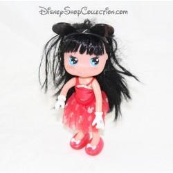 Mini muñeca me encanta Minnie FAMOSA Disney 17 cm rojo vestido