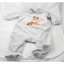 Pyjama velours Tigrou DISNEYLAND PARIS gris orange Tigger Disney 6 mois