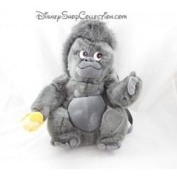 Sac à dos Tok singe DISNEY STORE Tarzan gris banane peluche